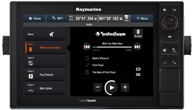 Control total de audio del display multifunción | Raymarine by FLIR