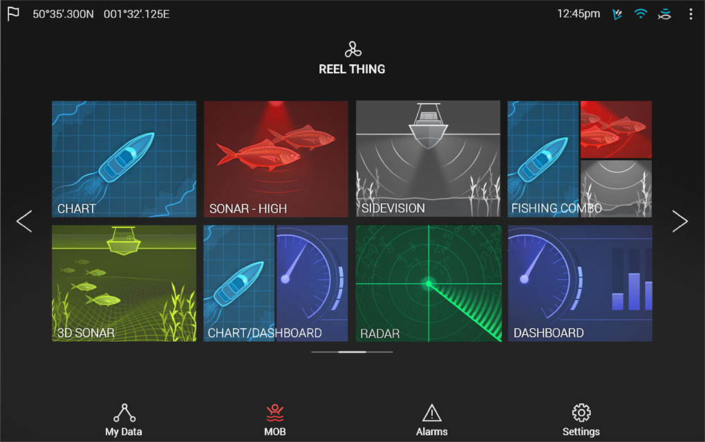 Pantalla de inicio de LightHouse 3 | Raymarine by FLIR