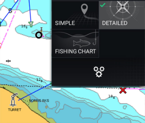 Interfaz de usuario de LightHouse 3 | Raymarine by FLIR